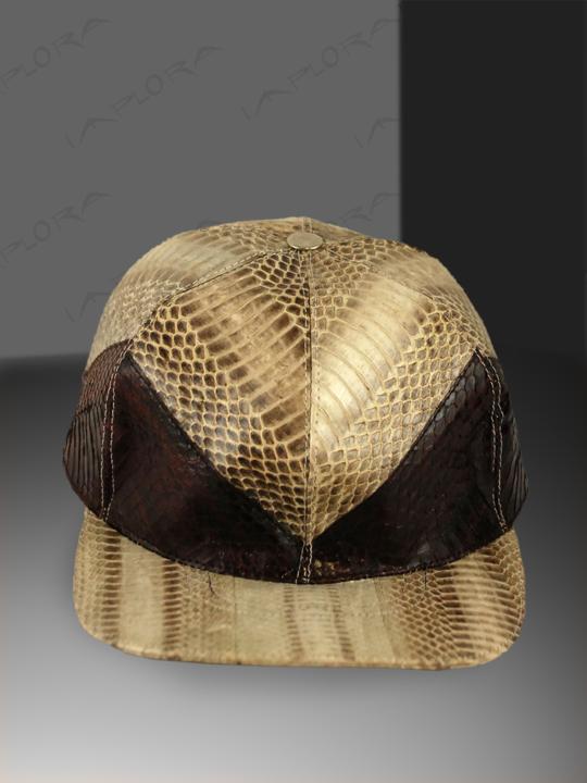 Snakeskins Hats N Head Wrap Spitting Cobra Snake Natural