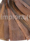 Mixed Brown Cobra Snake Skin Scraps