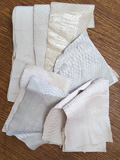 Snake Skin Scraps Pieces Assorted White