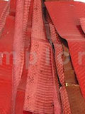 Snake Skin Scraps Pieces Assorted Red