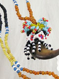 Genuine Dayaknese Beads Necklace with Real Bear's Claw