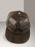 Dark Brown Cobra Snakeskin Baseball Cap Hat