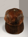 Cobra Snake Skin Baseball Cap Hat Brown