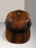 Cobra Snakeskin Baseball Cap Hat Brown 2-tone
