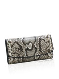 Implora Natural Burmese Python Lady Purse
