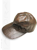 Implora Dark Brown Cobra Snakeskin Baseball Cap Hat