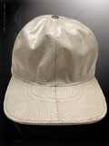 Implora White Cobra Snakeskin Baseball Cap Hat