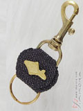 Wine Color Stingray Key Chain
